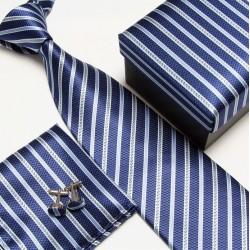 Dárková sada kravata, kapesníček a manžetové knoflíčky