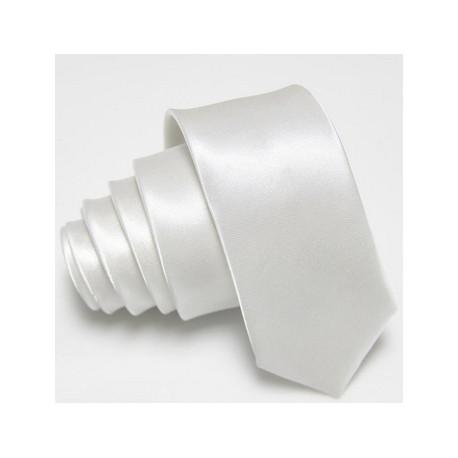 Slim kravata bílá