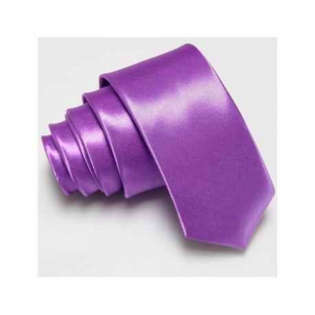 Slim kravata fialová