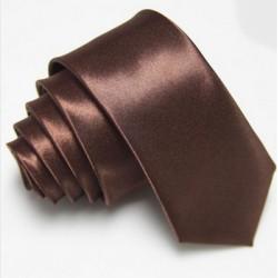 Slim kravata hnědá