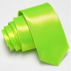 Slim kravata limetkově zelená
