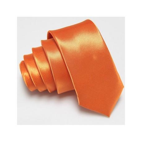 Slim kravata oranžová