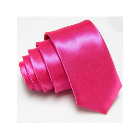 Slim kravata růžová purpurová