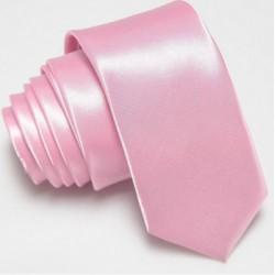 Slim kravata růžová