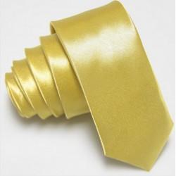 Slim kravata světle žlutá