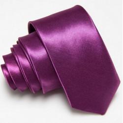 Slim kravata tmavě fialová
