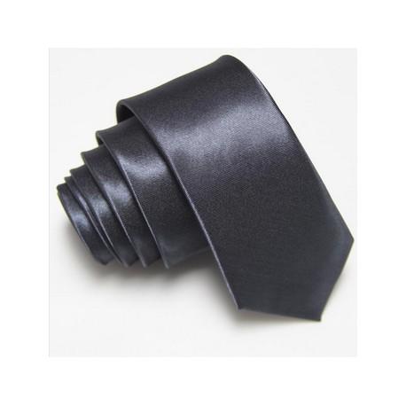 Slim kravata tmavě šedá