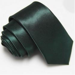 Slim kravata tmavě zelená