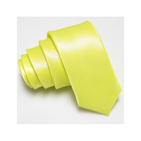Slim kravata zeleno žlutá