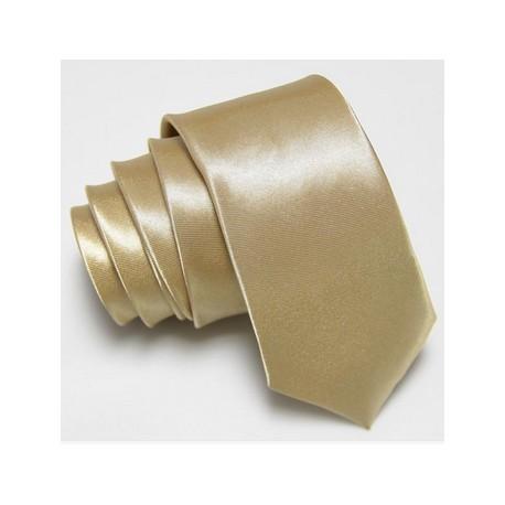 Slim kravata zlatá
