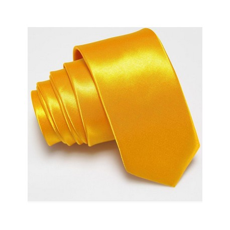 Slim kravata žlutá